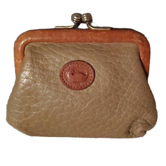 Dooney & Bourke Leather Coin Purse Kiss Lock Vinta